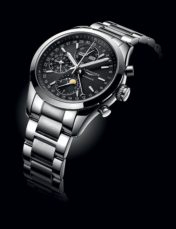 Longines Conquest Classic Moonphase - black dial/bracelet