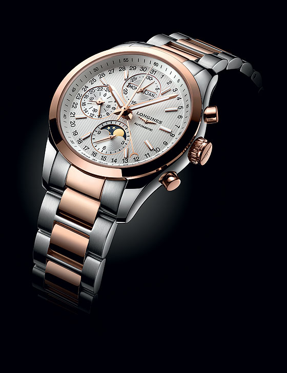 Longines Conquest Classic Moonphase - two-tone bracelet