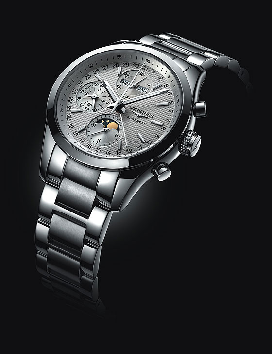 Longines Conquest Classic Moonphase - white dial/bracelet