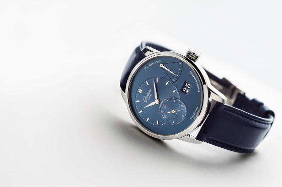 Glashutte Original PanoReserve_Stainless_Steel_blue_dial angle 560