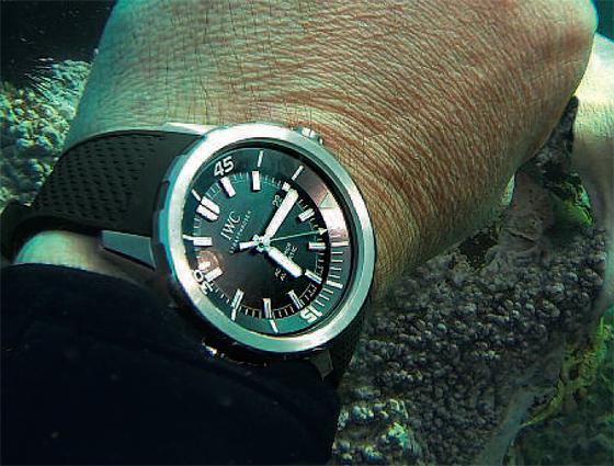 IWC Aquatimer on wrist