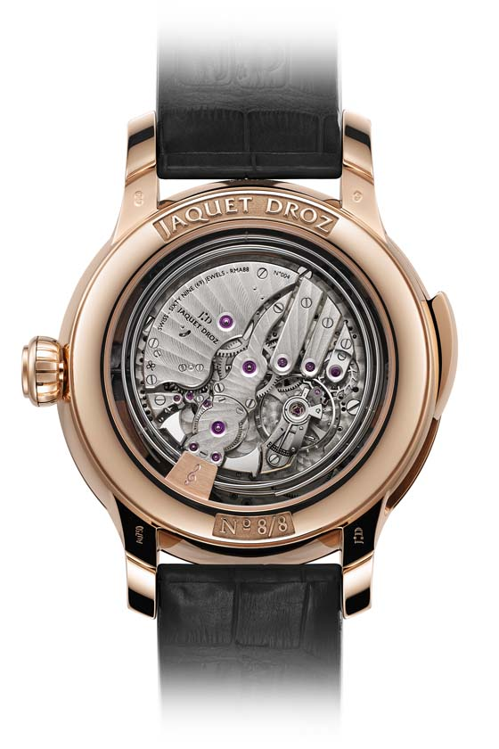 Jaquet Droz Bird Repeater Geneva back 560