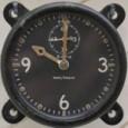 Smithsonian Lindbergh Waltham 8 Days Clock - Closeup