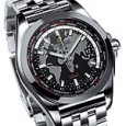 Breitling Galactic Unitime SleekT - Black-Dial - Angle
