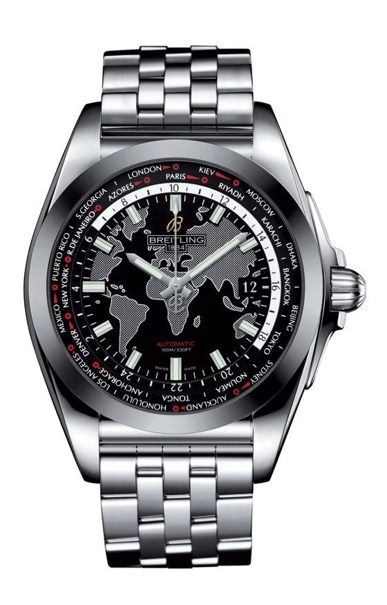 Breitling Galactic Unitime SleekT Black-Dial - front