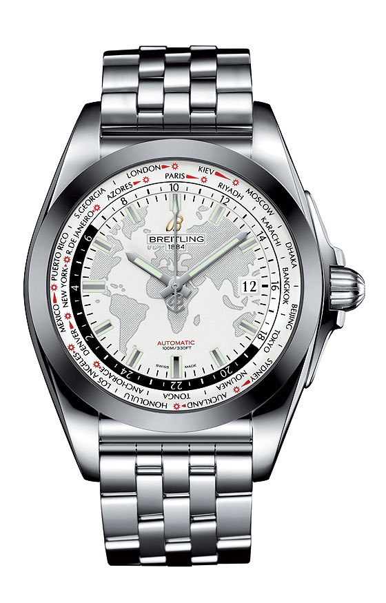 Breitling Galactic Unitime SleekT - Silver Dial - front