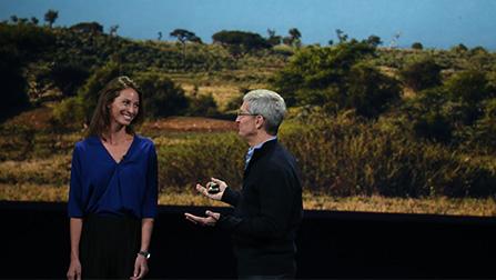 Christie Turlington - Apple CEO Tim Cook