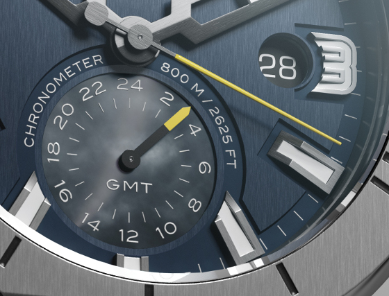 Clerc Hydroscaph GMT Power Reserve Chronometer_Dial detail 560