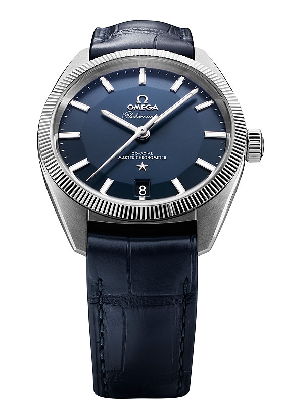 Omega Globemaster - blue dial - front