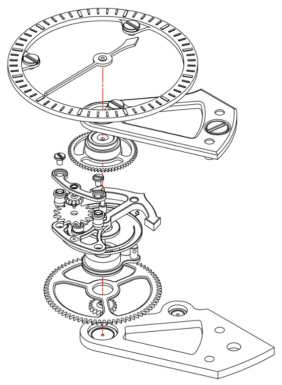 Arnold & Son Constant Force Tourbillon - diagram