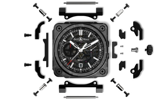 Bell & Ross BRX1-Carbone-Forge-expoded view 560