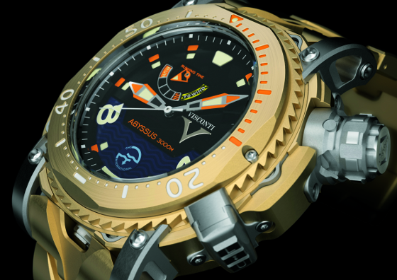 The Scuba Abyssus 3000 M watch with a bronze case.