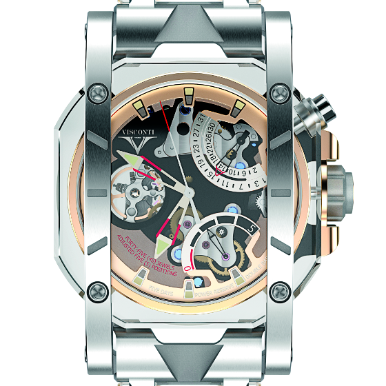 Visconti's gold-and-steel Crystal Demo watch.