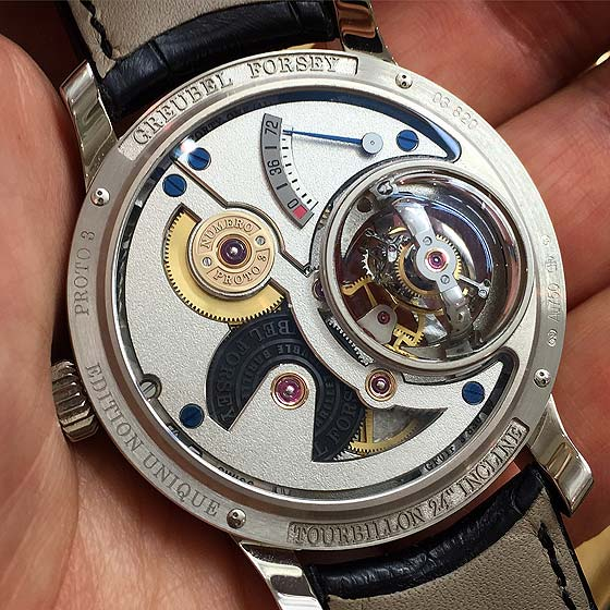 Greubel Forsey Tourbillon 24 Secondes Vision - live back