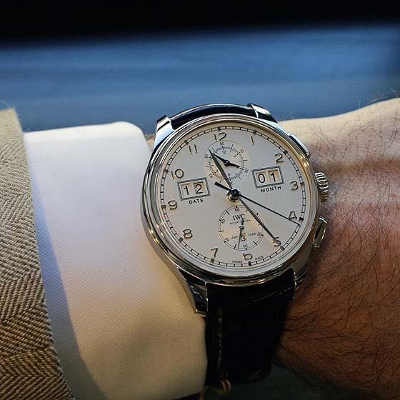 IWC Portugieser Perpetual Calendar Digital Date Month 75th Anniversary - wrist