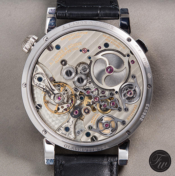 A. Lange & Sohne Zeitwerk Minute Repeater - back