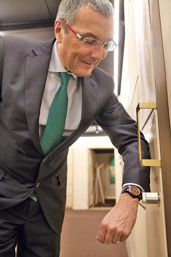 Babin with Bulgari Smartwatch