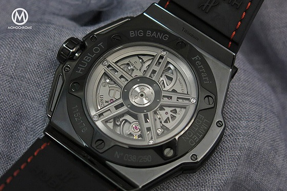 Hublot Big Bang Ferrari Speciale Ceramic - Red - Caseback