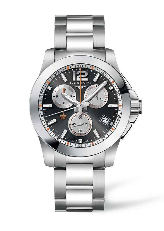 Longines Conquest 1/100th Roland Garros - front