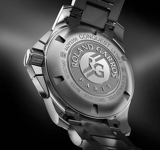 Longines Conquest 1/100th Roland Garros - back