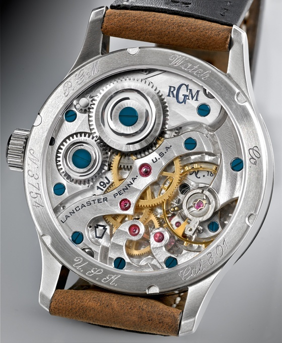 Caliber 801's bridges were inspired by those of a century-old  pocketwatch from  E. Howard.