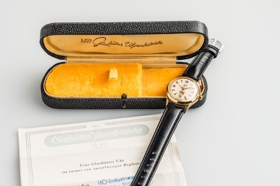 Historic GUB watch with box and papers