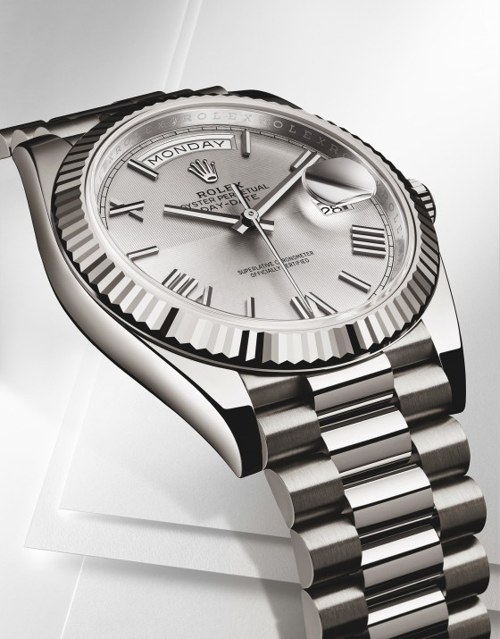 Rolex-Day-Date-40-white-gold-front