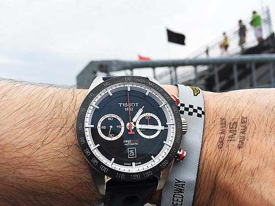 Tissot PR 516 on wrist - IMS flags