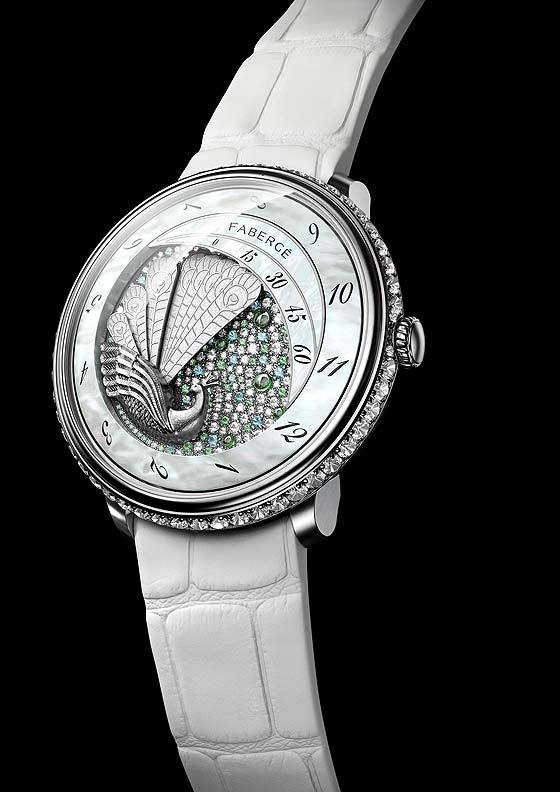 Faberge Lady Compliquee Peacock Timepiece