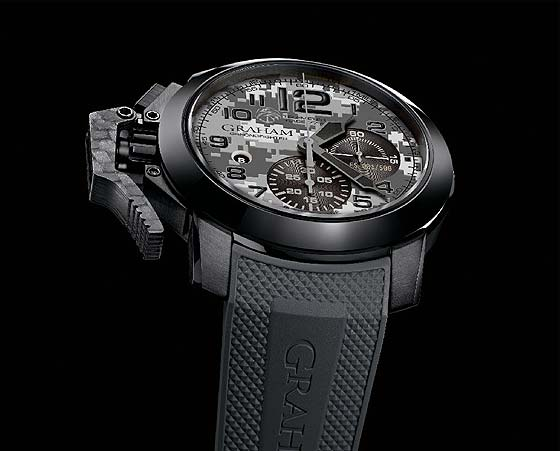 Replica Graham Chronofighter Oversize Navy Seals Foundation - angle