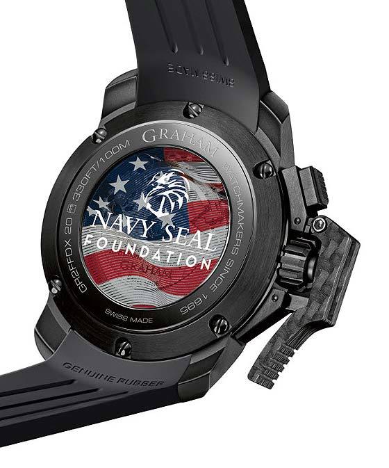 Replica Graham Chronofighter Oversize Navy Seal Foundation - back