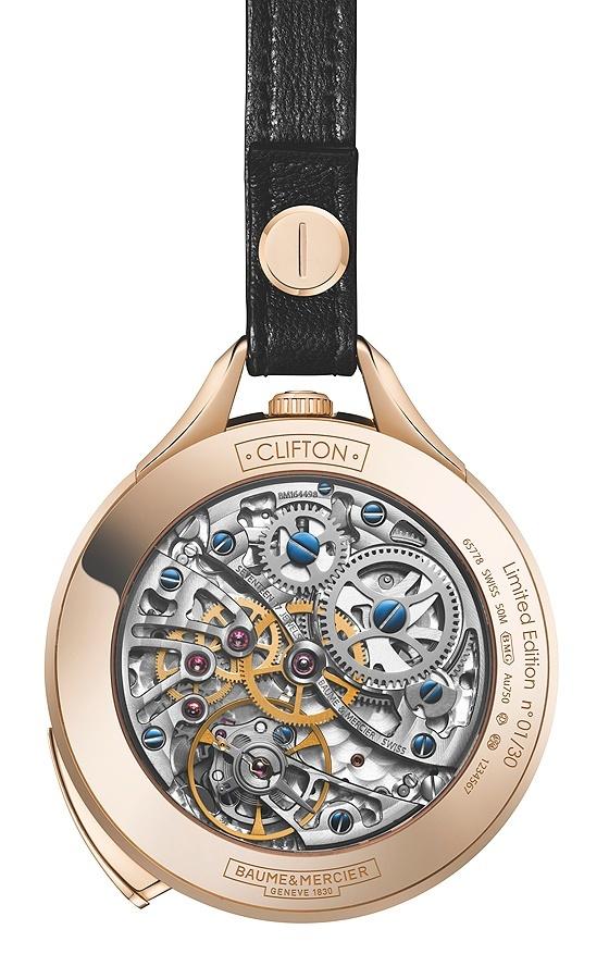 Baume & Mercier Clifton 1830 Pocket and Promesse Jade Baume_Clifton_1830_Pocketwatch_back_560