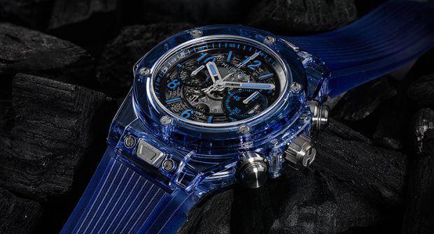 Transparent Time: Hublot Big Bang Unico Blue Sapphire Blue