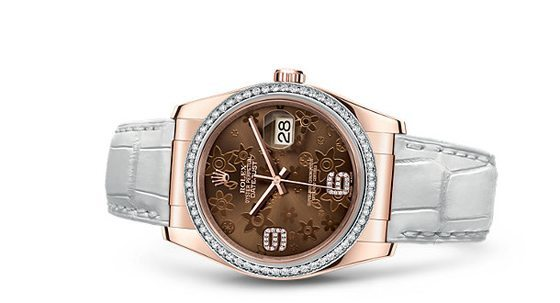 Rolex Datejust w/ diamonds - reclining