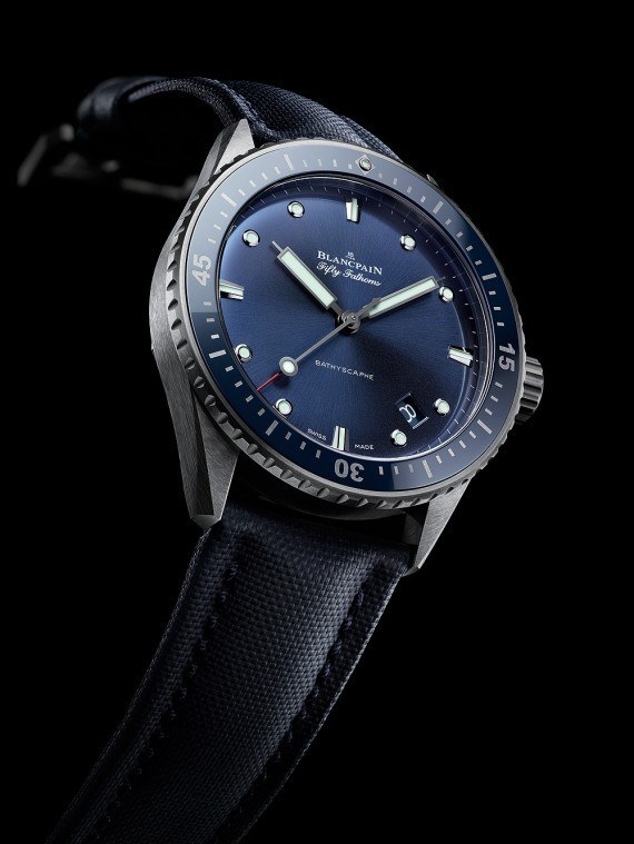 Blancpain Fifty Fathoms Bathyscaphe - angle