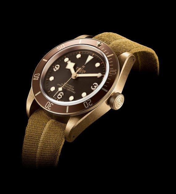 Tudor Heritage Black Bay bronze - NATO - angle