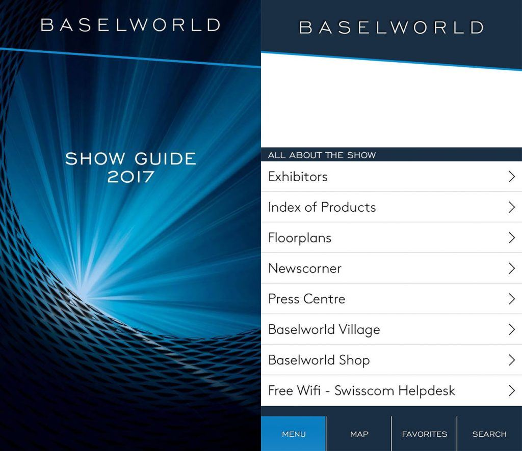App Baselworld 2017