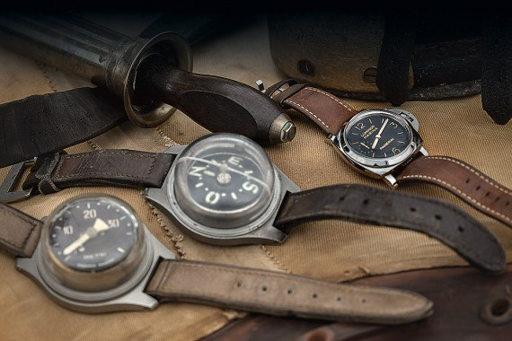Panerai watch with bathometer & compass