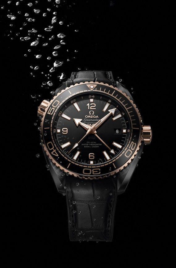 Omega Seamaster Planet Ocean - Sedna Gold - front