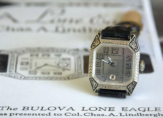 History of Bulova Through Ten Milestone Watches article Bulova_Lindbergh_watch_500