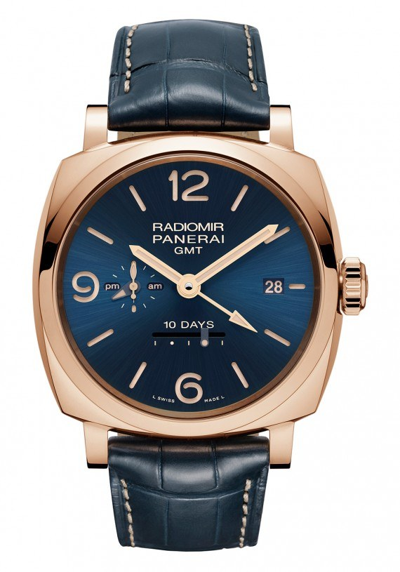 Panerai Rdiomir 1940 10 Days GMT Automatic Oro Rosso - blue dial