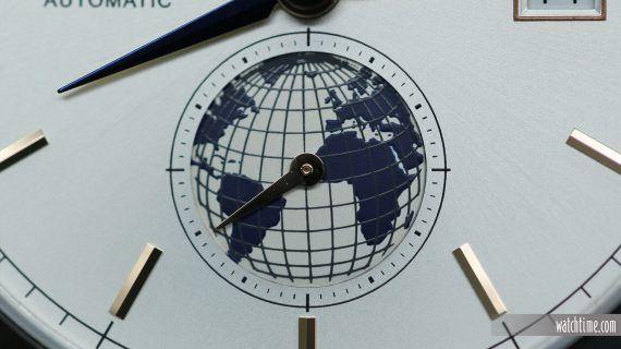 Montblanc Heritage Chronometrie Dual Time Vasco De Gama - Dial - Globe
