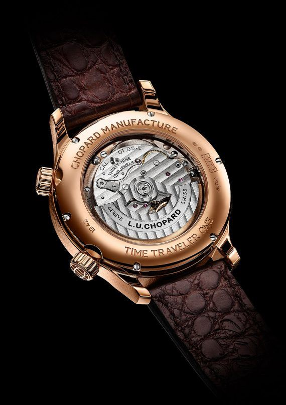 Chopard LUC Time Traveler One - platinum - back