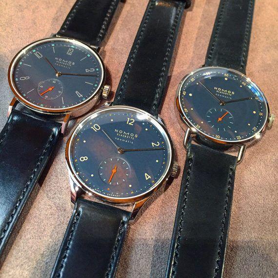 Nomos nachtblau watches - group