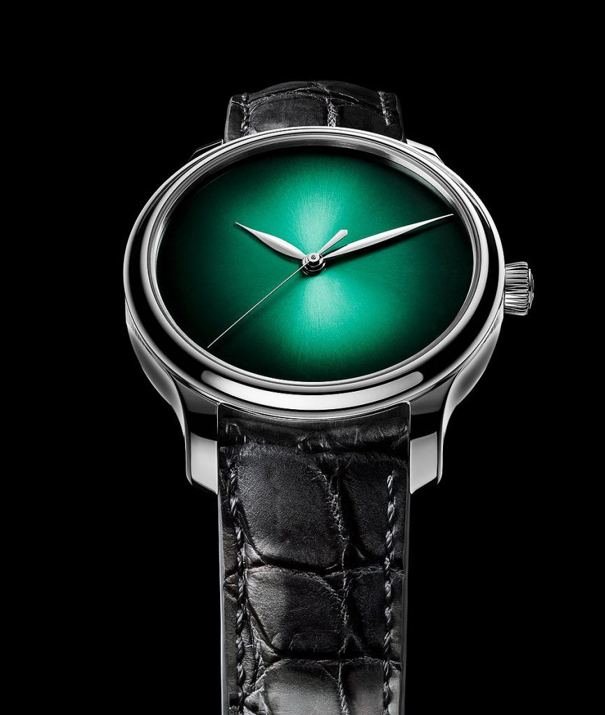 Moser Endeavour Centre Seconds Concept Cosmic Green, white gold
