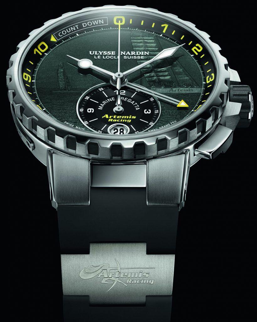 The Ulysse Nardin Marine Regatta Chronograph limited edition with champlevé enamel dial