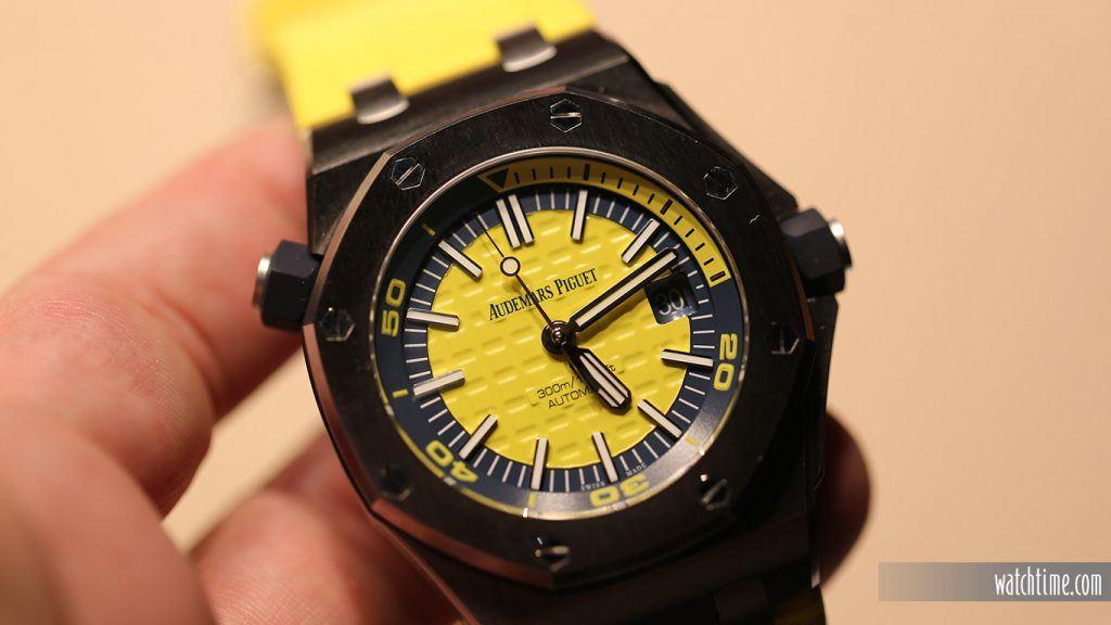 Audemars Piguet: Royal Oak Offshore Diver, yellow