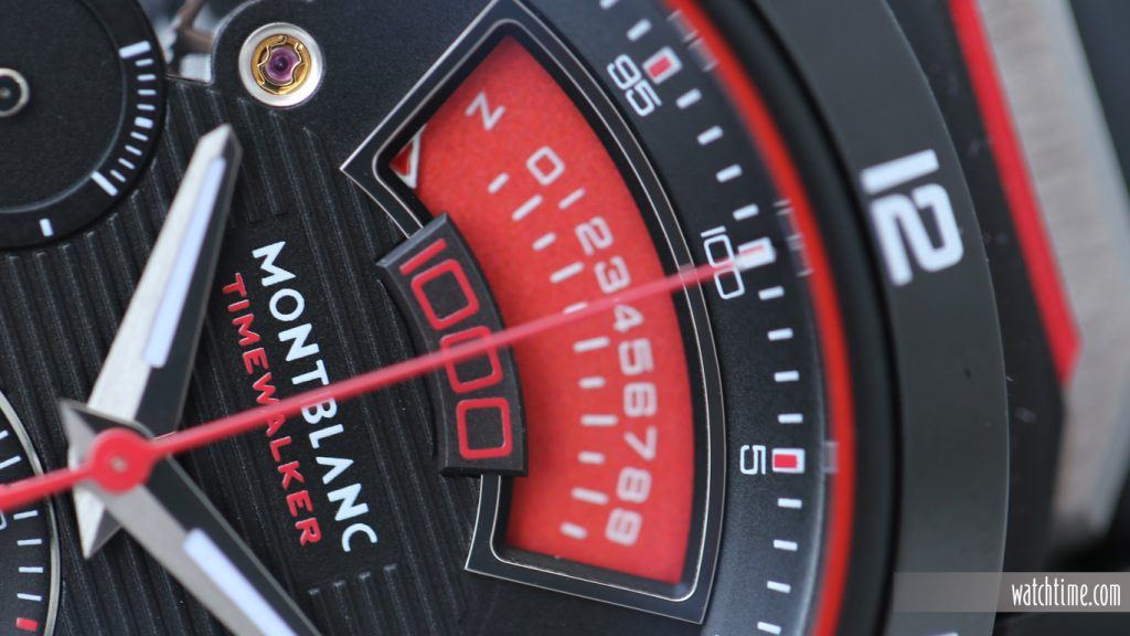 TimeWalker Chronograph 1000 Limited Edition, detail