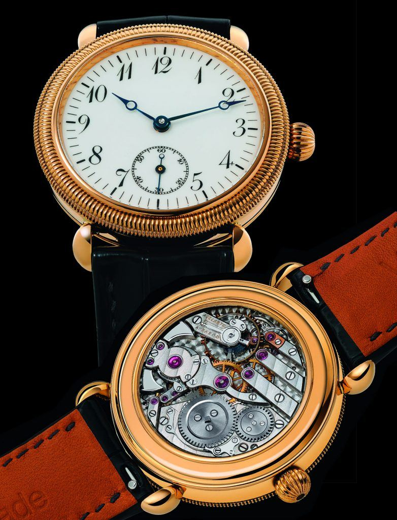 Voutilainen's first minute repeater was activated by turning the bezel.