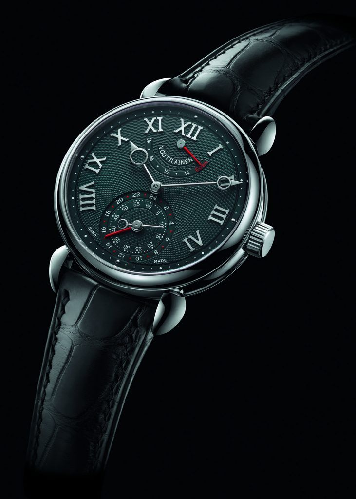 The GMR, with in-house movement based on Caliber 28, has a GMT function and power-reserve indicator.